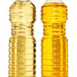 Two bottle of vegetable oil — Stock Photo