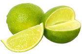 Fresh cut lime close up — Stock Photo