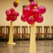 Wedding ornament from balloons — Stock Photo