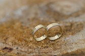 Couple of gold wedding rings — Stock Photo