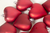 Red and gold christmas ornaments — Stock Photo