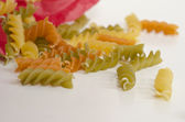Italian pasta nest isolated on white background — Stock Photo