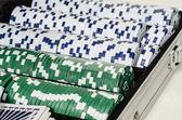 Casino chips stacks — Stock Photo