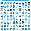 Stock Vector: 100 icons for medicine
