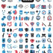 100 detailed icons for medicine - Stock Vector