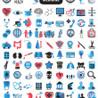 Stock Vector: 100 detailed icons for medicine