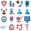 Set of medicine icons - part 1 — Stock Vector