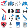 Stock Vector: Set of medicine icons - part 2