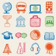 Hand drawn education icons - Stock Vector