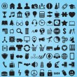 Stock Vector: Set 100 various icons for design