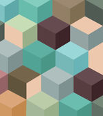 Abstract vintage cube background — Stock Vector