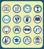 Set di icone di educazione d'epoca — Vettoriale Stock