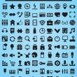 100 Icons For Web and Design Elements — ストックベクター #12812305