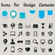 Stock Vector: Icons For Design Elements
