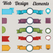 Set of retro web design elements — Stock Vector