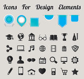Icons For Design Elements — Stock Vector