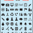 Set of 50 medical icons for design - Stock Vector
