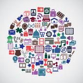 Abstract concept of social media — Stock Vector