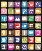 Set van sociale media knop voor ontwerp — Stockvector