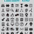 Set of 50 education icons — Stock Vector
