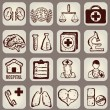 Set of calligraphic medical icons — Stock Vector