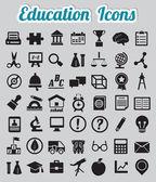 Set di 50 icone di educazione — Vettoriale Stock