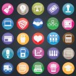 Royalty-Free Stock 矢量图片: Set of social media buttons for design - part 2