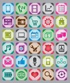 Ensemble de boutons web coloré — Vecteur