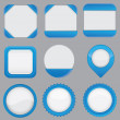 Stockvector : Set of empty web elements for design