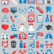 Royalty-Free Stock Vector Image: Set of medical icons for design