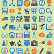 Set of colorful icons for design — Stock Vector
