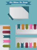 Set of vintage ribbons for design — Stock Vector