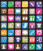 Set of square medical buttons for design — Stock Vector