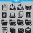 Stock Vector: Set of document icons