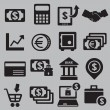 Set of money icons - Stock Vector