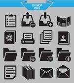 Ensemble d'icônes de document — Vecteur