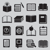 набор различных книг — Cтоковый вектор