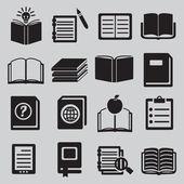 Uppsättning av olika böcker — Stockvektor