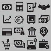 Set of money icons — Stock Vector