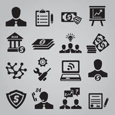 Set of business icons — Stok Vektör