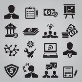 Set van pictogrammen bedrijfs van de — Stockvector