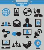 Ot iletişim icons set — Stok Vektör