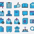 Set of internet and business icons — Stock Vector