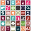 Set of education icons - Vettoriali Stock