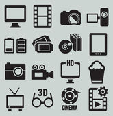 Set of video icons — Stock Vector