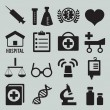Royalty-Free Stock Vector Image: Set of medical icons - part 1