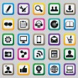 Set of social media buttons for design — Vector de stock