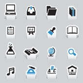 Set of education tabs — Stock Vector