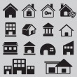 Stock Vector: Set of houses icons