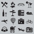 Set of tourism and recreation icons - part 2 — Stock Vector